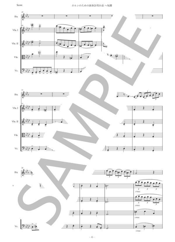 楽譜】サン=サーンス「ホルンのためのの演奏会用小品 ヘ短調」弦楽 ...